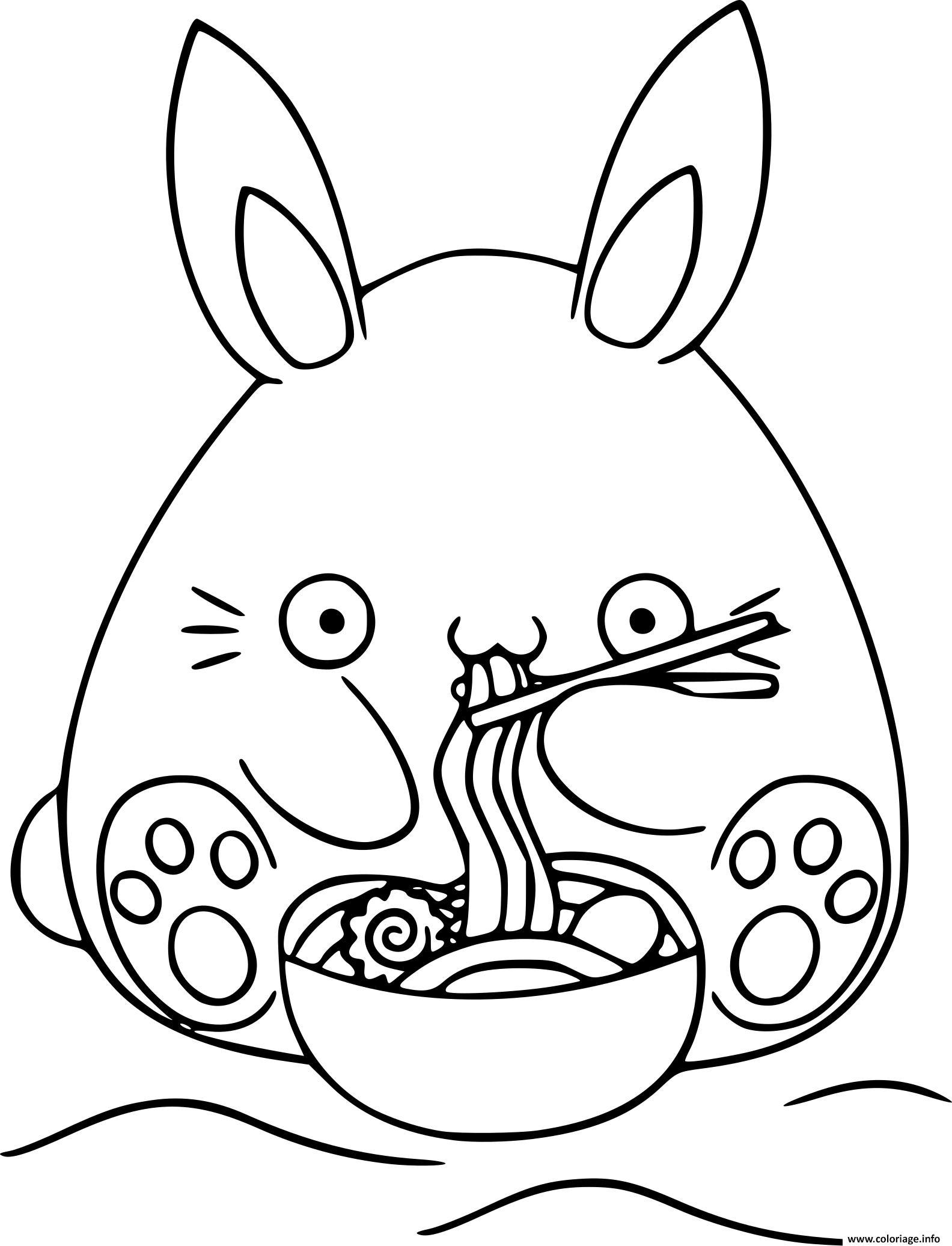 Dessin dessin lapin kawaii Coloriage Gratuit à Imprimer