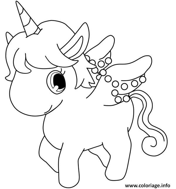 Coloriage Dessin Licorne Cute Kawaii Jecolorie Com