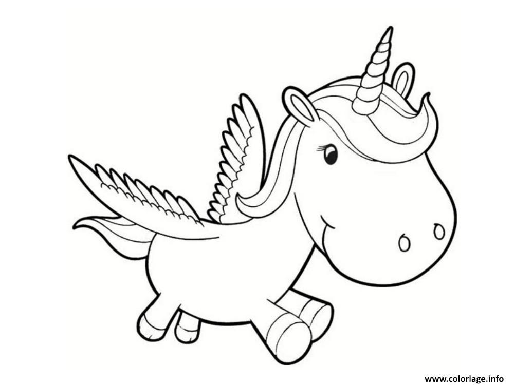 Coloriage dessin licorne minon dessin - Dessin licorne kawaii ...