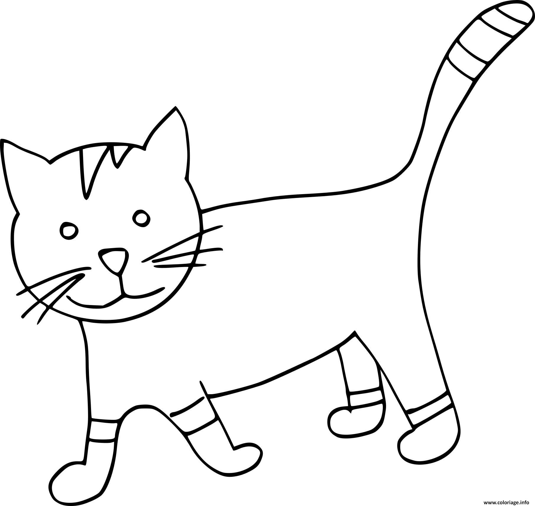 Coloriage dessin chat maternelle - Chat a colorier maternelle ...