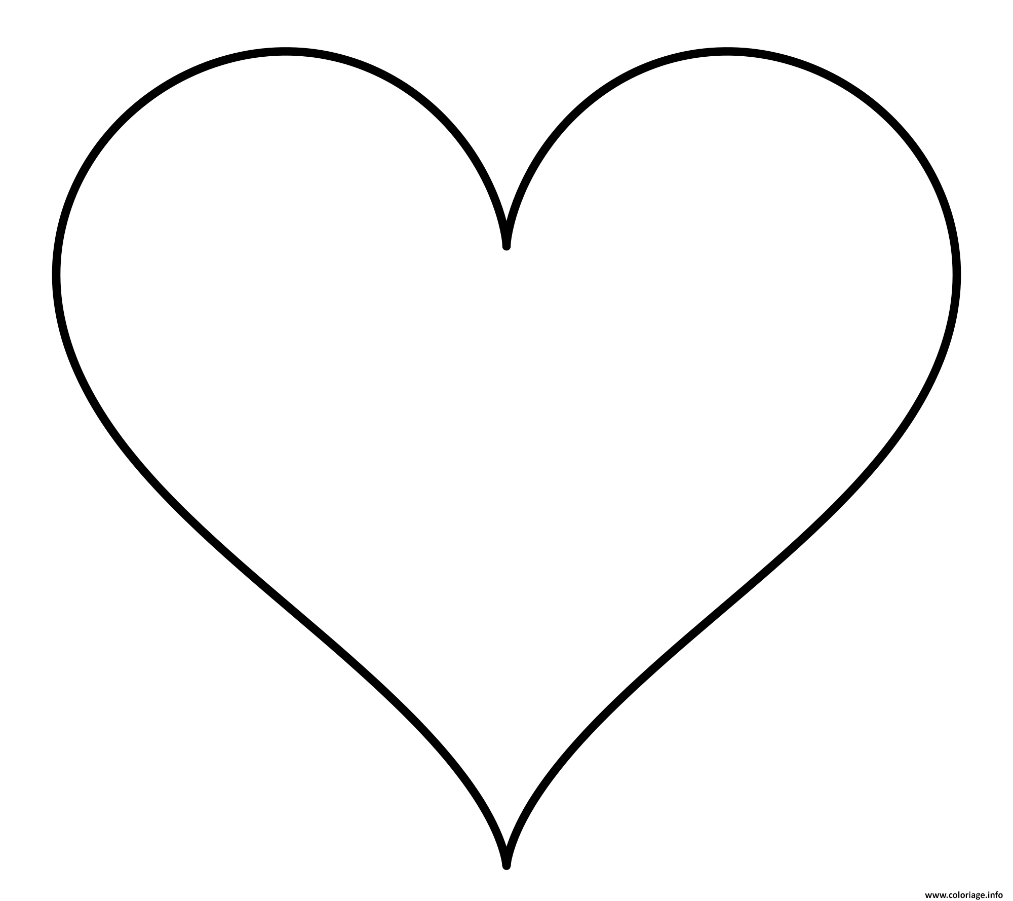 Coloriage dessin coeur amour - Coeur coloriage ...
