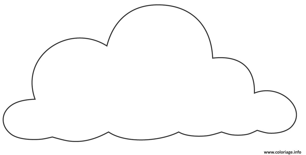 dessin de nuage - colorier les enfants