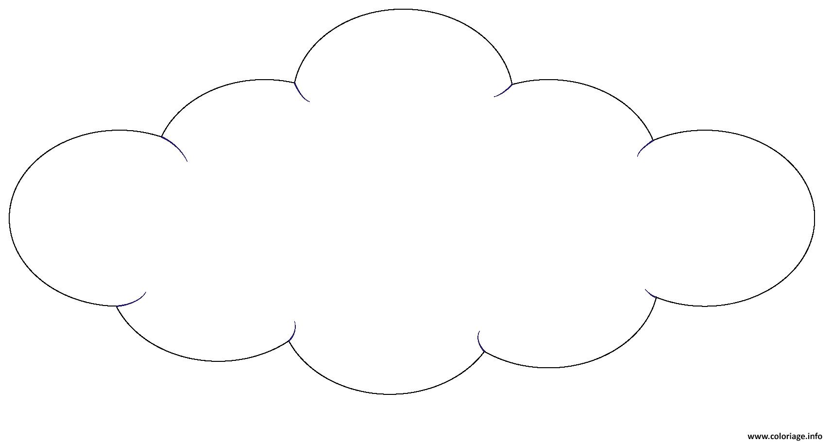 coloriage nuage nature dessin imprimer - Dessin De Nuage