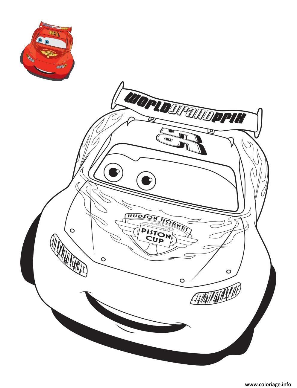 Coloriage Cars 3 Flash Mcqueen Confiant Pour La Course De