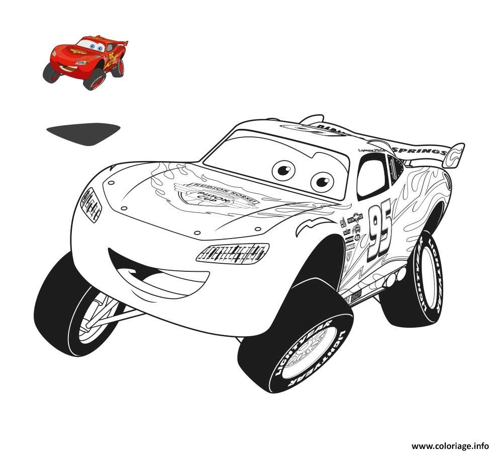 Coloriage cars 3 flash mcqueen fait le saut dessin - Flash mcqueen film gratuit ...