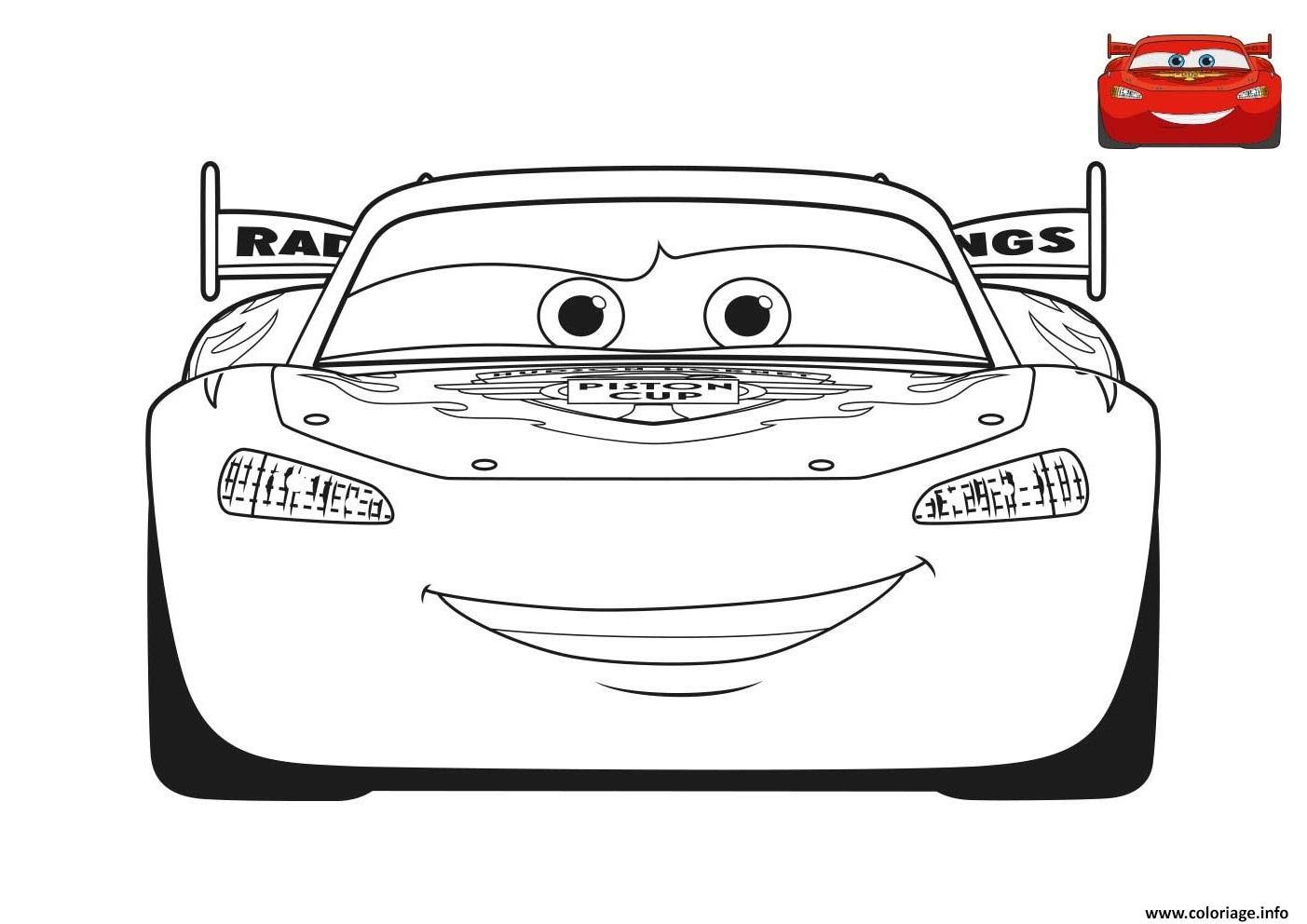 Coloriage film cars 3 flash mcqueen voiture rouge - Cars coloriage voitures ...