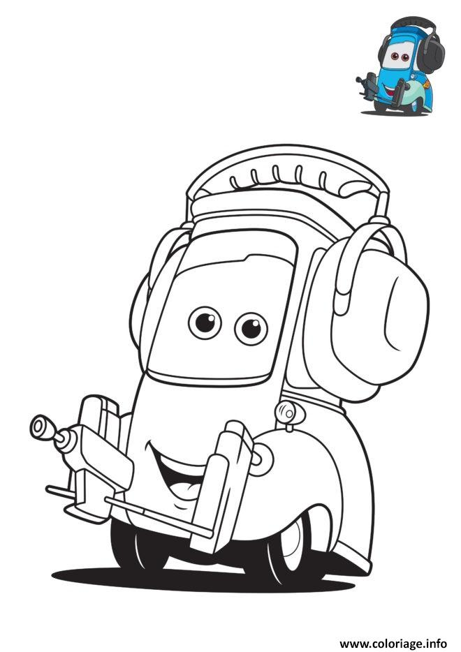 Coloriage cars 3 guido personnage dans le film cars - Coloriages de cars ...