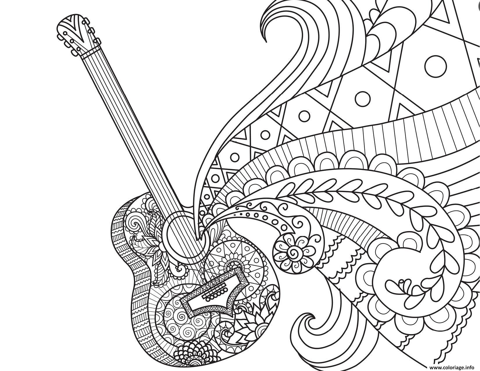 Dessin coco disney guitare de miguel par bimbimkha Coloriage Gratuit à Imprimer