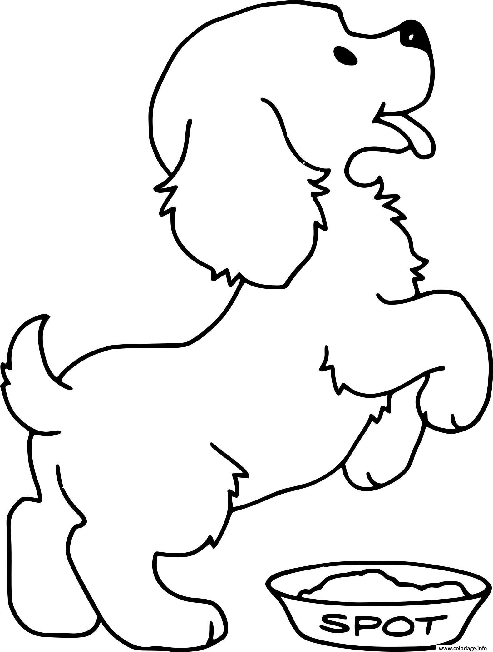 Chiot Dessin coloriage chien bebe adorable dessin