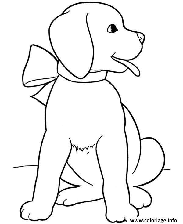 Coloriage chien chiot gratuit - Coloriage labrador ...
