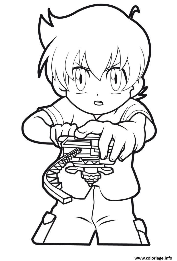 Coloriage beyblade player - Dessin toupie ...