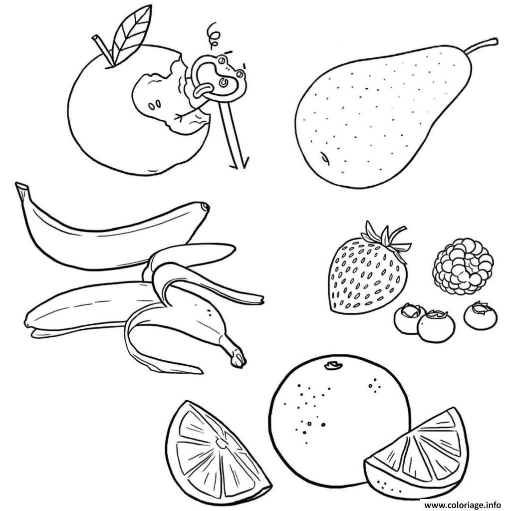 Dessin alimentation fruits Coloriage Gratuit à Imprimer