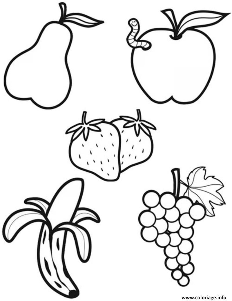 Dessin alimentation les fruits Coloriage Gratuit à Imprimer