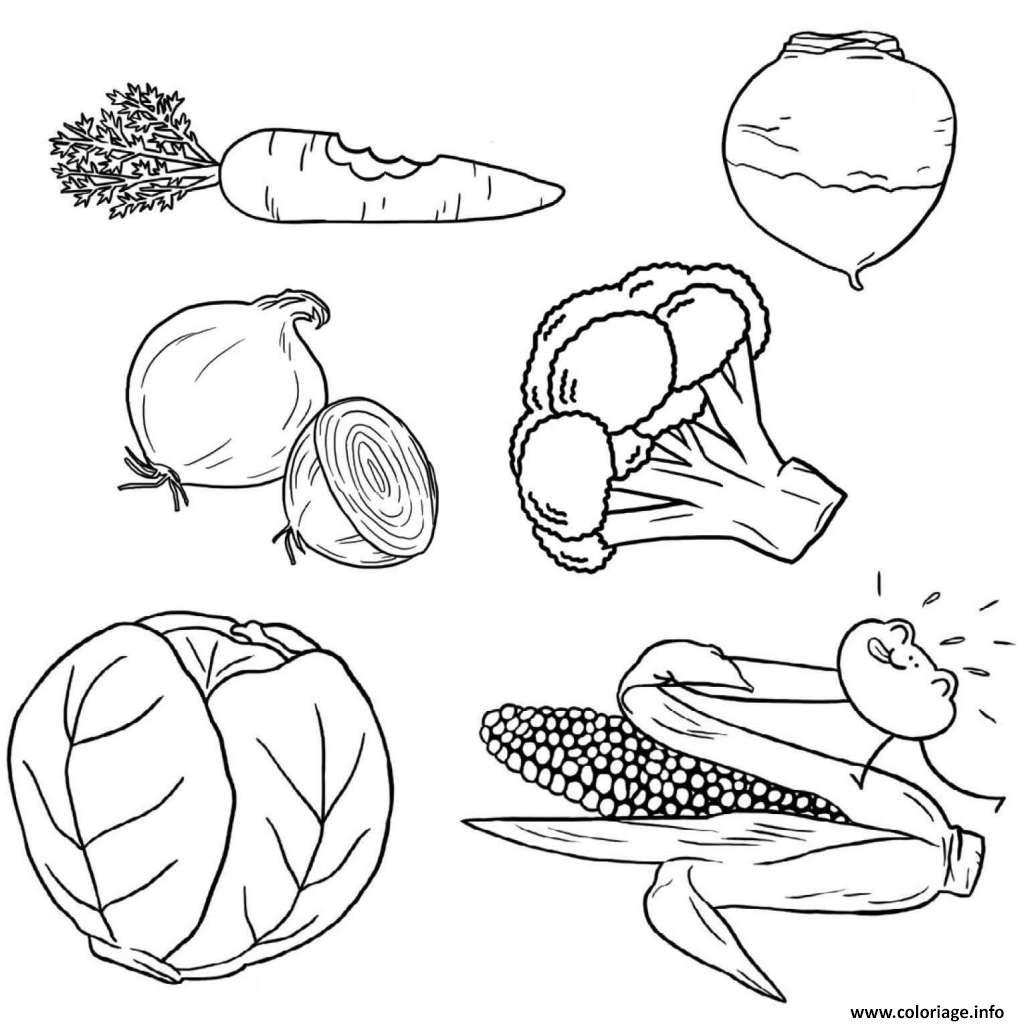 Coloriage alimentation equilibree legumes - Fruits a colorier et a imprimer ...
