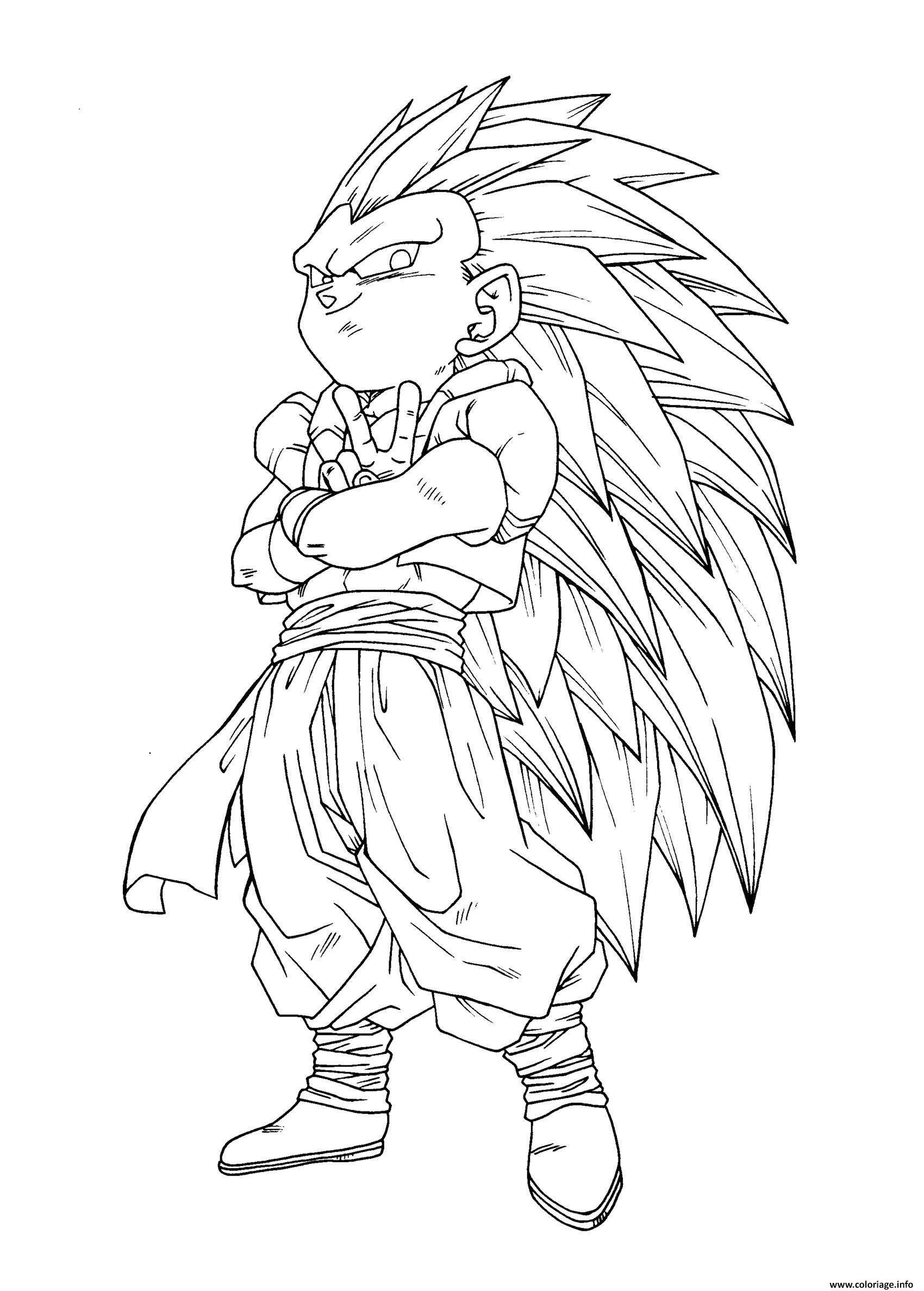 Coloriage Super Saiyan Goten Dragon Ball Z Jecolorie Com