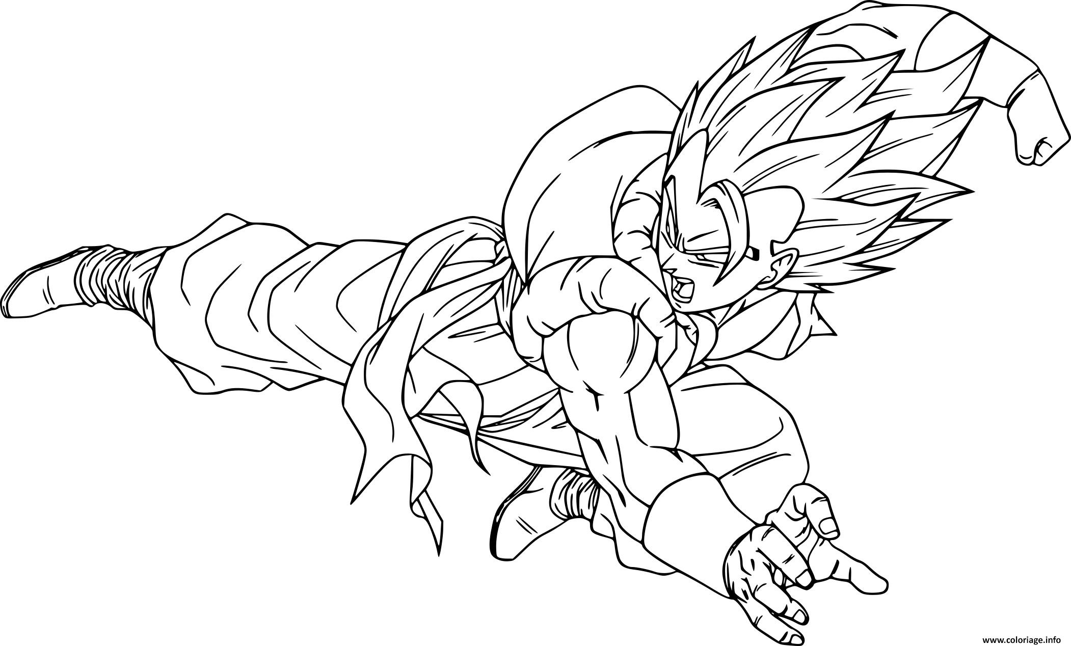 Coloriage Dragon Ball Z Gogeta Jecoloriecom