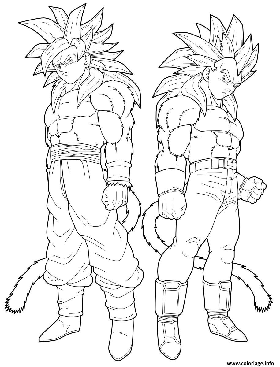 Coloriage Dbz Goku Et Vegeta By Drozdoo Dessin Dragon Ball Z A Imprimer
