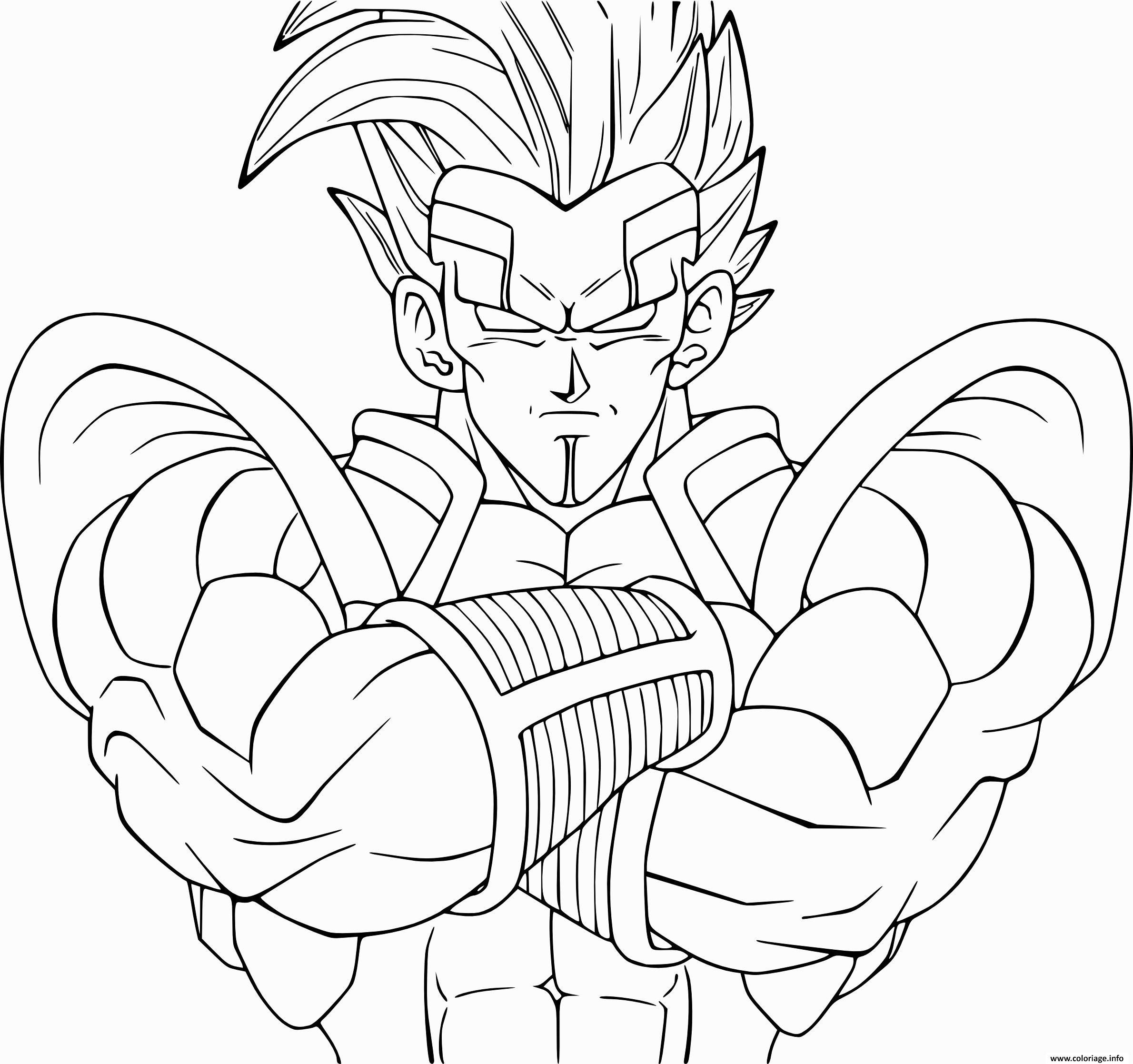 Dessin unique dragon ball z vegeta Coloriage Gratuit à Imprimer