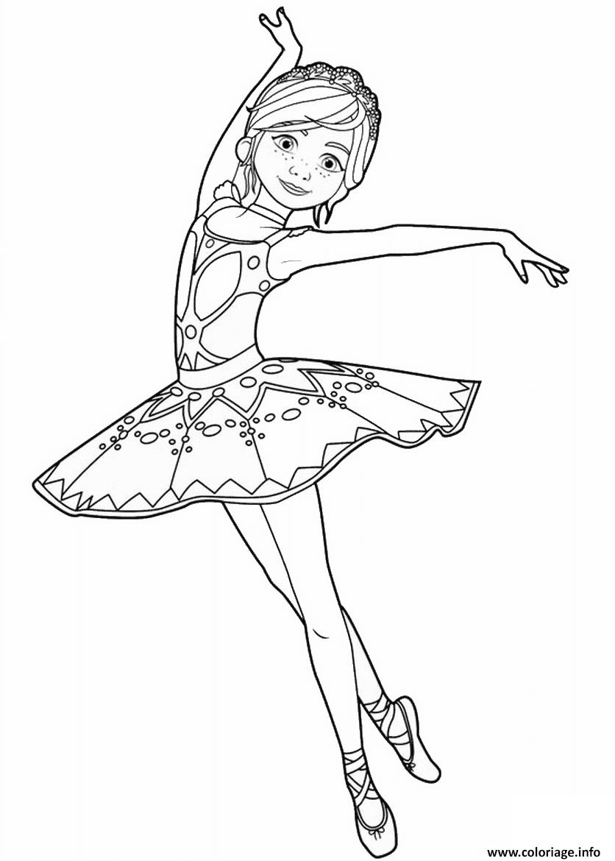 Coloriage felicie milliner de ballerina danseuse opera dessin - Dessin d une danseuse ...