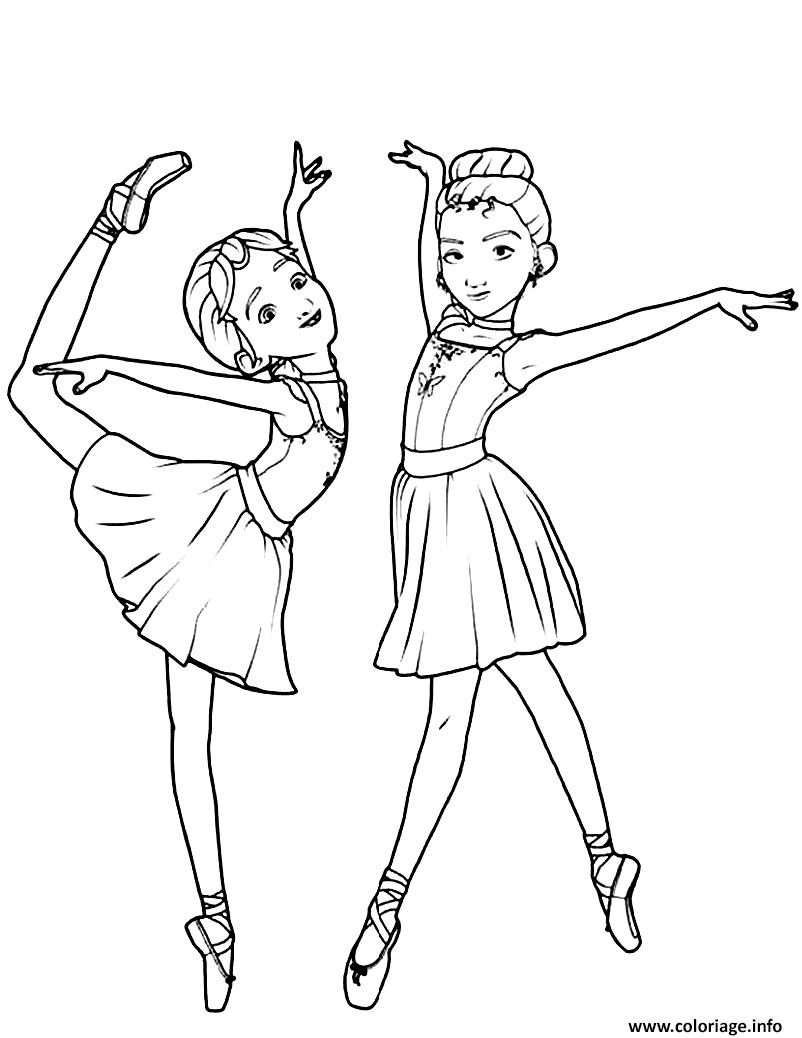 Dessin camille le haut et felicie milliner de ballerina Coloriage Gratuit à Imprimer