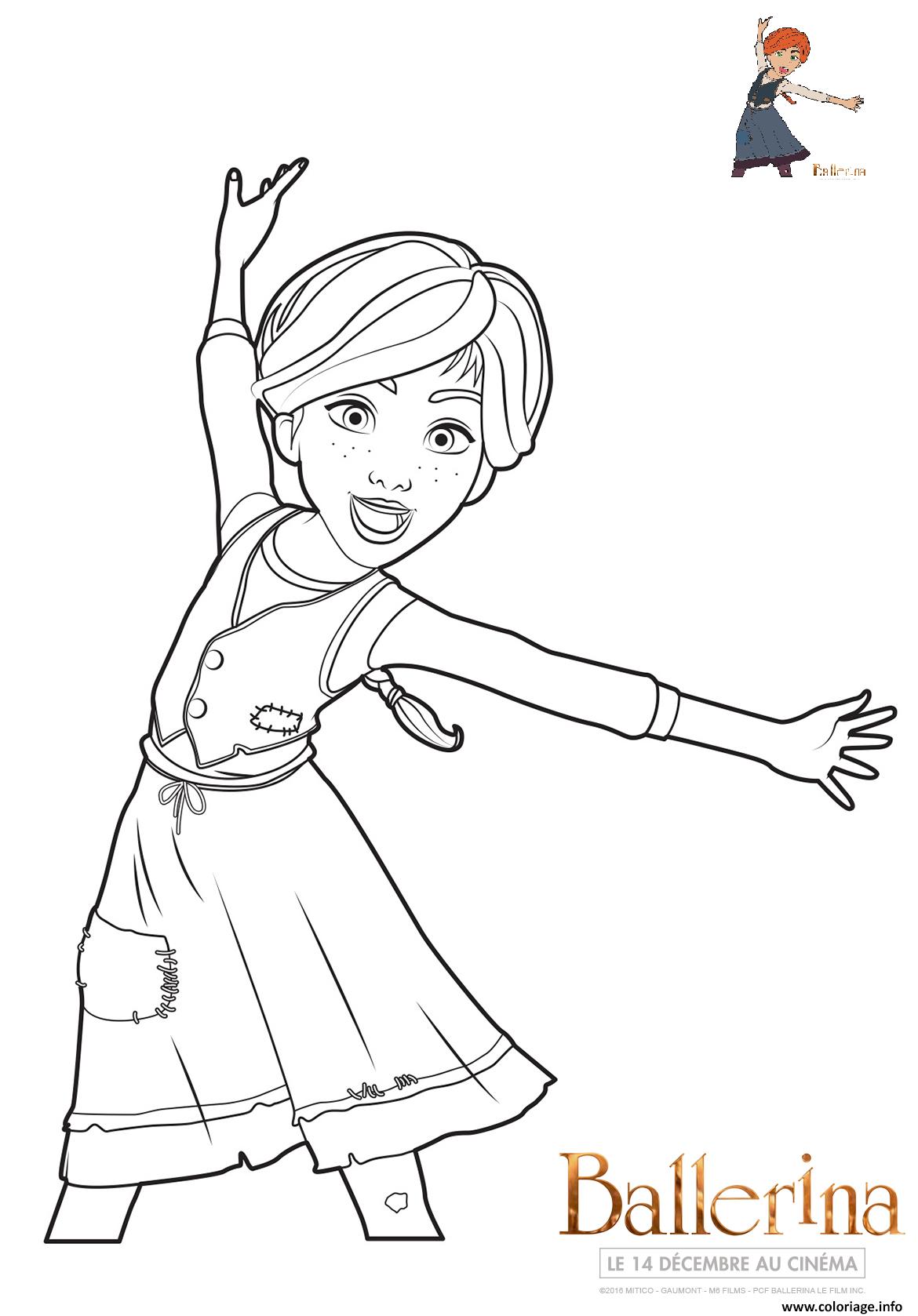 Dessin ballerina felicie Coloriage Gratuit à Imprimer