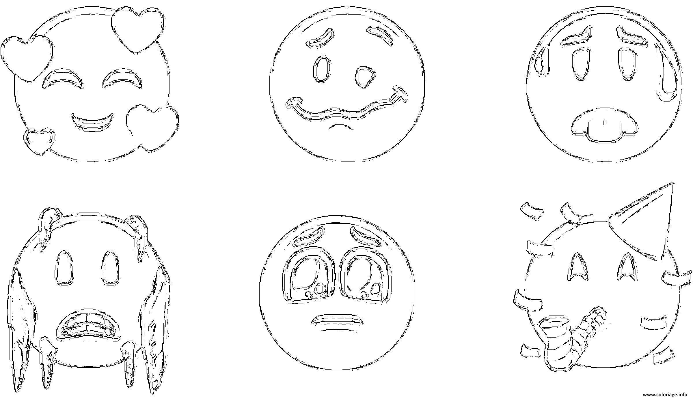 Coloriage ios 12 emoji original - JeColorie.com