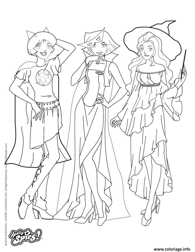 Coloriage Totally Spies Halloween dessin