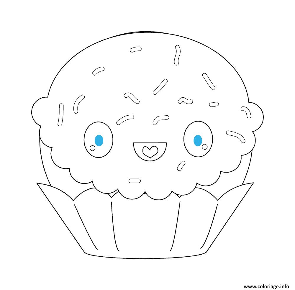 Coloriage Kawaii Cupcake Jecolorie Com