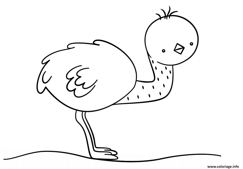 Coloriage Info Kawaii.Coloriage Kawaii Emu Jecolorie Com