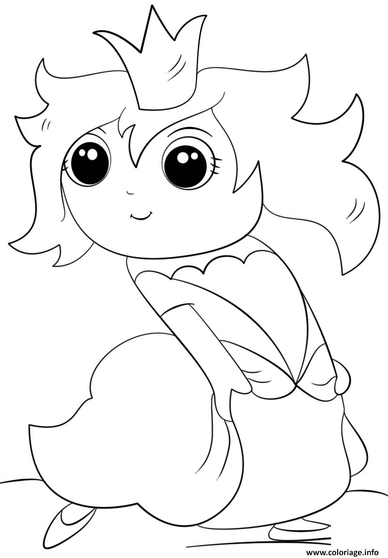 Coloriage Chibi Princess Kawaii Jecoloriecom