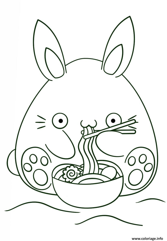 Dessin kawaii bunny Coloriage Gratuit à Imprimer