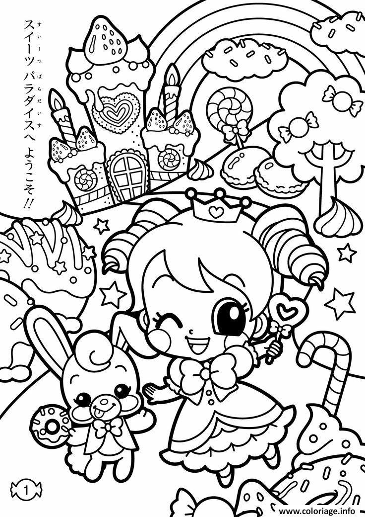 Kawaii Coloriage Livre.Coloriage Kawaii Kawaii Jecolorie Com