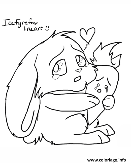 Dessin bunny with carrot kawaii Coloriage Gratuit à Imprimer