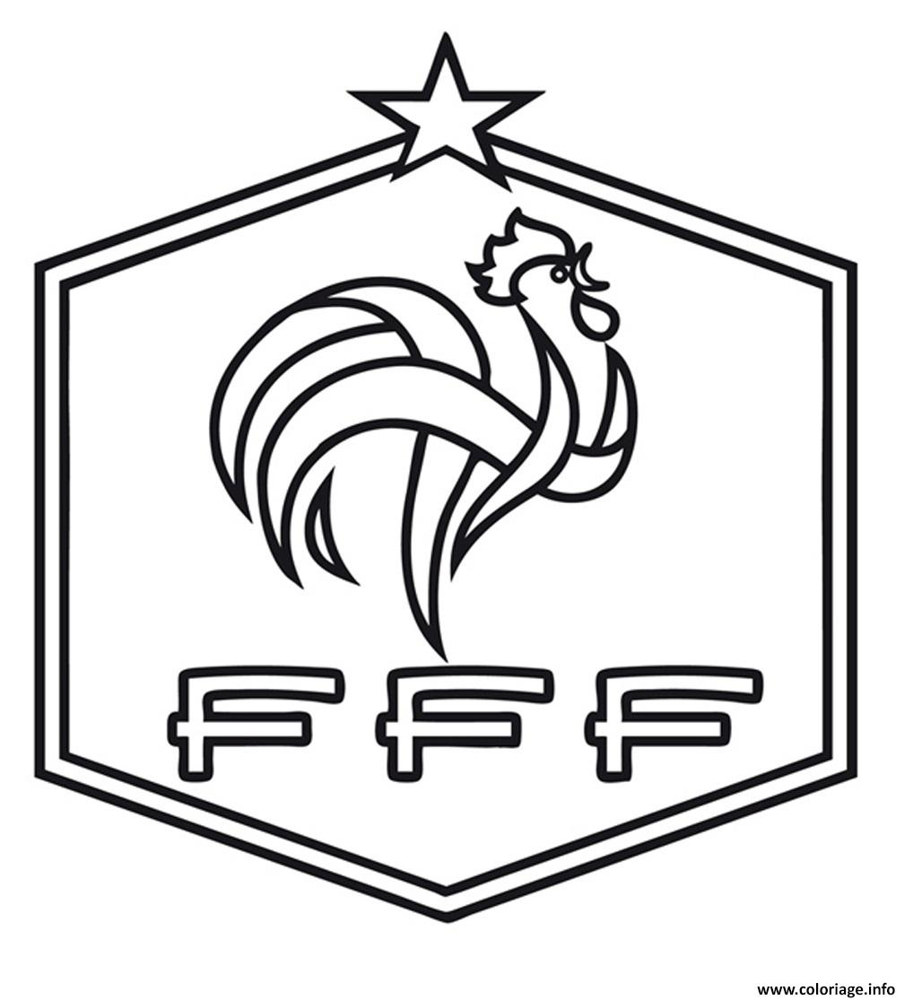 Coloriage Foot St Etienne.Coloriage Foot France Fff Dessin