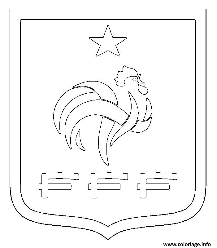 Coloriage foot france fff logo - Coloriage equipe de foot ...