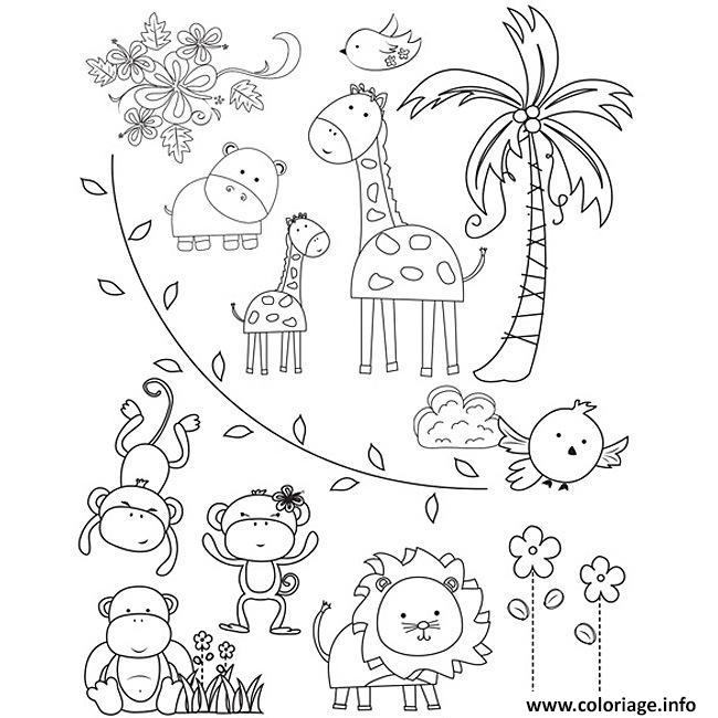 Coloriage Animaux Zoo.Coloriage Animaux Du Zoo Jecolorie Com