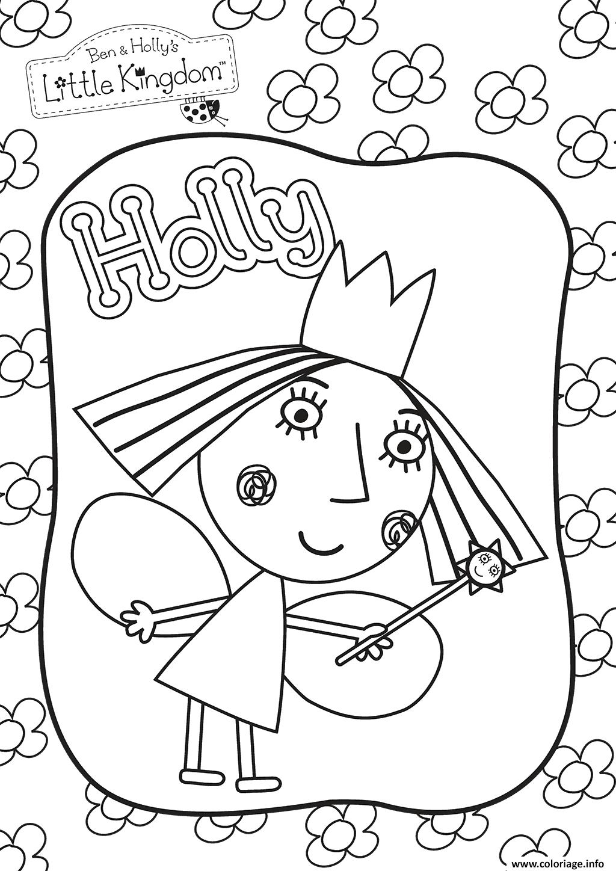 Dessin holly Le Petit Royaume de Ben et Holly Coloriage Gratuit à Imprimer