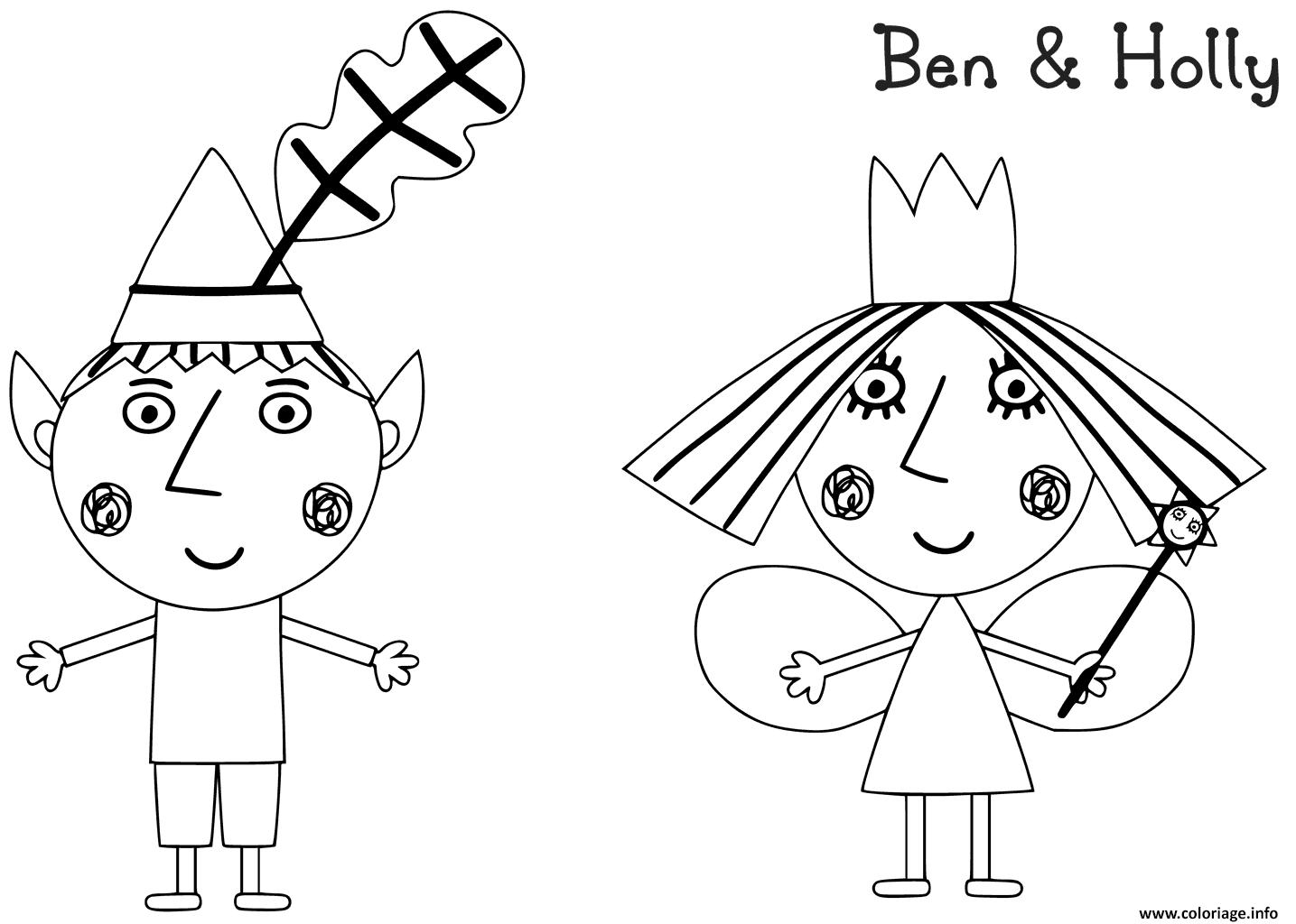 Dessin Le Petit Royaume de Ben et Holly 2 Coloriage Gratuit à Imprimer