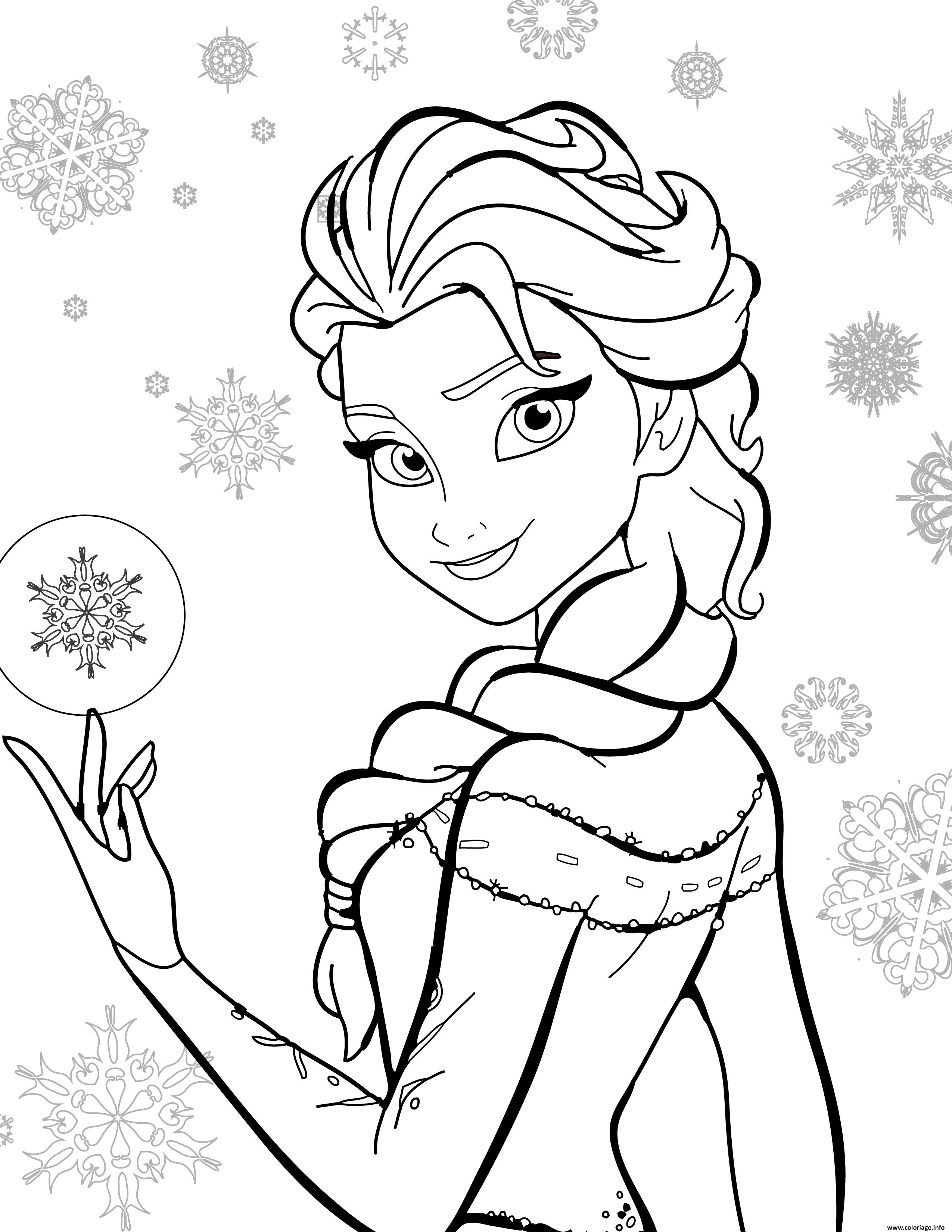 coloriage disney la reine des neiges dessin imprimer - Jeux En Ligne Reine Des Neiges