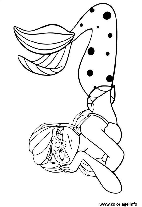 Coloriage miraculous ladybug la sirene - Sirene a colorier et imprimer ...