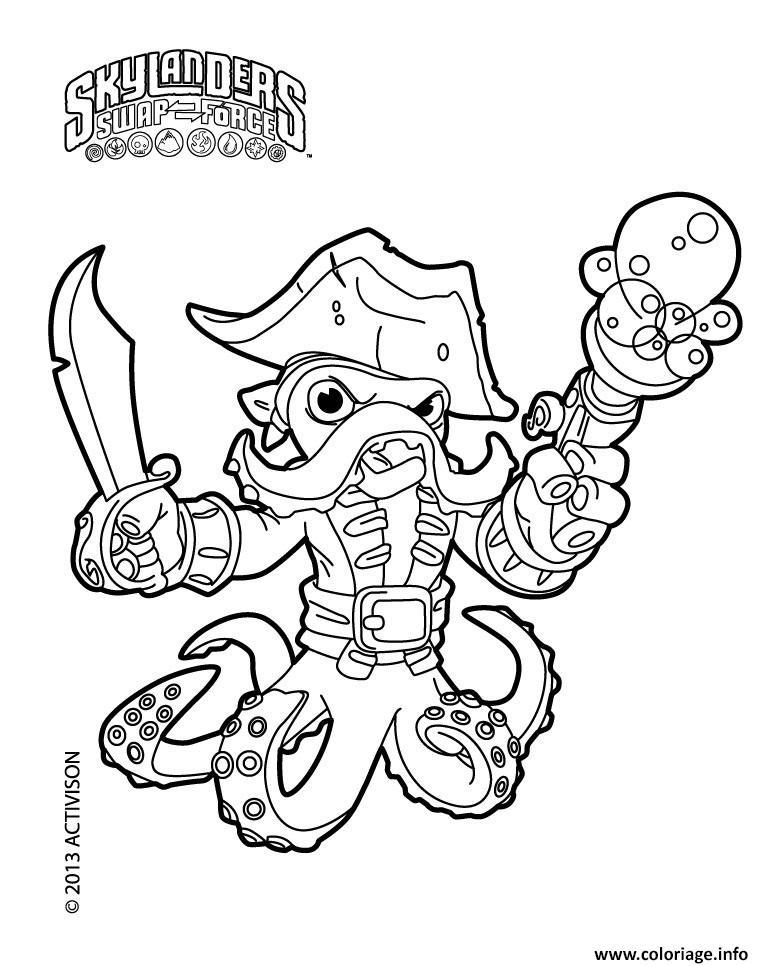 Coloriage skylanders fryno wash buckler dessin - Jeux gratuit skylanders ...