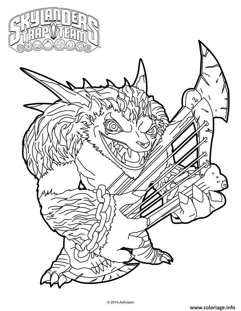 Coloriage skylanders trap team wolfgang - Dessin de skylanders ...