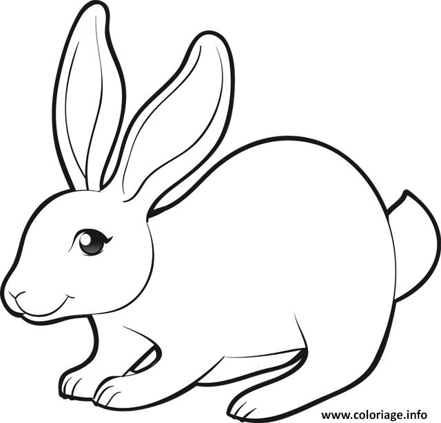 Coloriage lapin beau sourire dessin - Image sourire gratuit ...