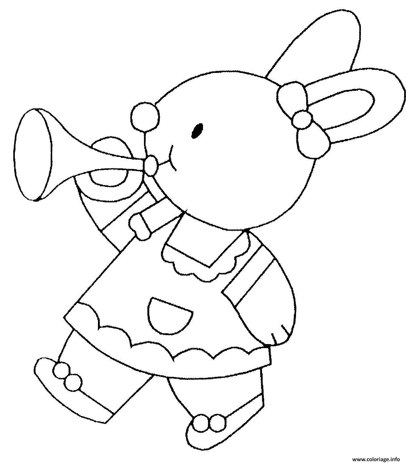 Dessin lapin lapinot Coloriage Gratuit à Imprimer
