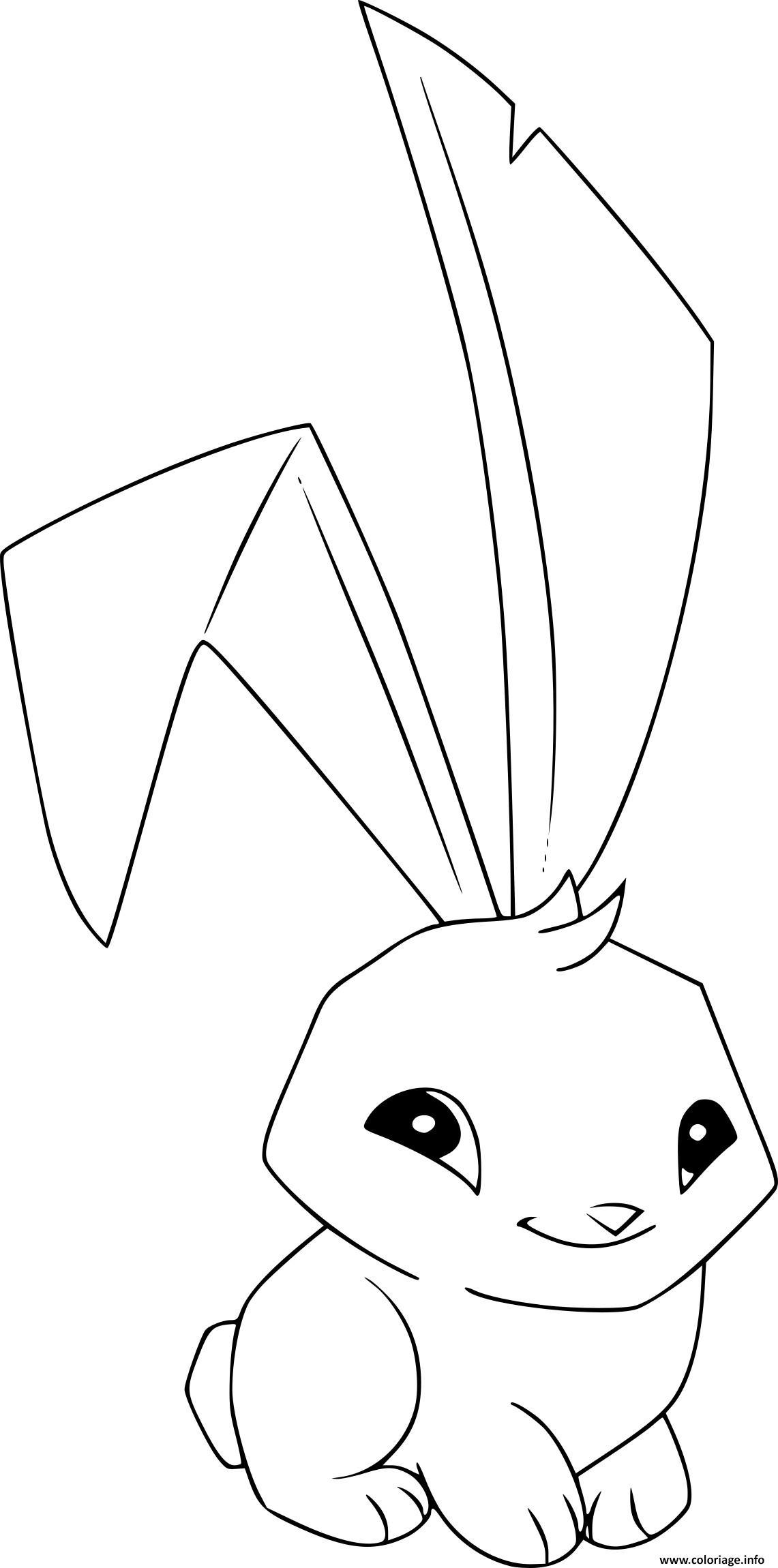 Dessin lapin unpeu timide Coloriage Gratuit à Imprimer