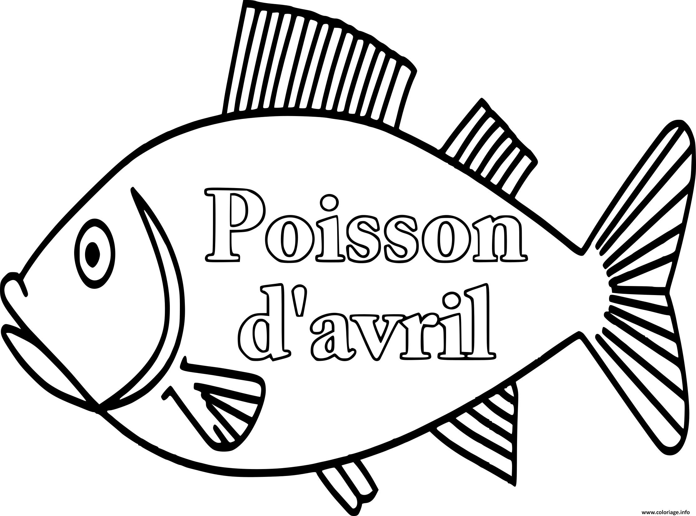 Coloriage grand poisson davril - Grand dessin a colorier ...
