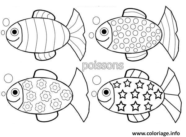 Coloriage Poissons Davril Plusieurs Modele Dessin Poisson Davril A Imprimer