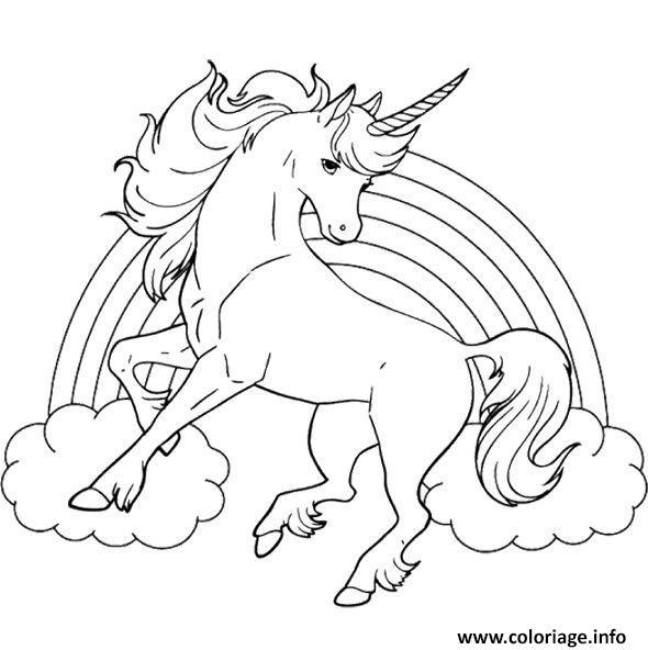 Coloriage arc en ciel et licorne - Coloriages licorne ...