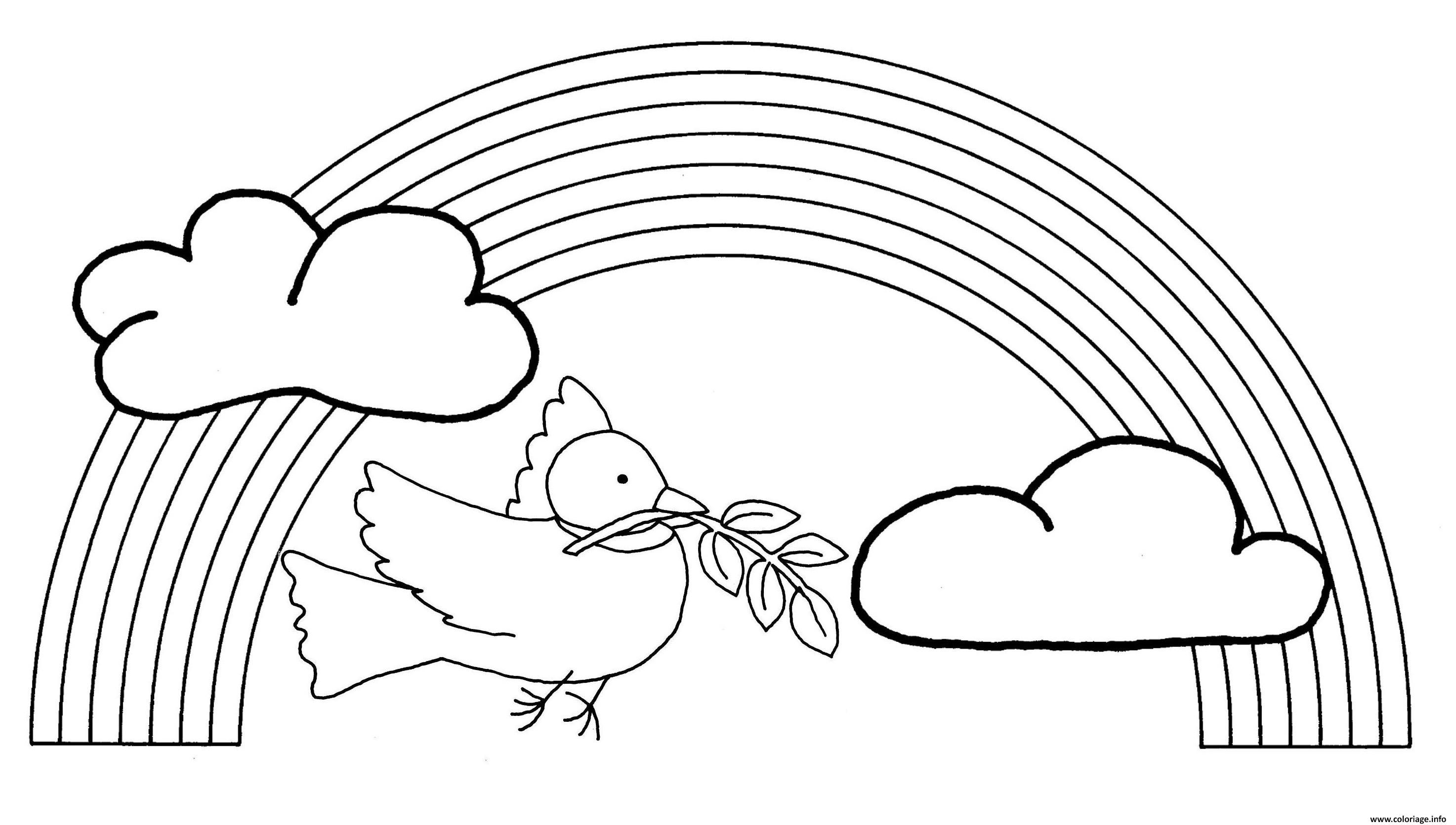 Coloriage oiseau arc en ciel - Coloriage ciel ...