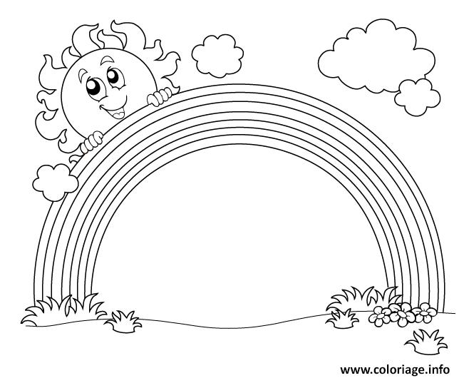 Dessin arc en ciel maternelle Coloriage Gratuit à Imprimer